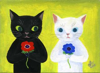 Kataoka,Mamikoそれぞれの花.jpg